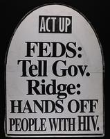 Feds: Tell Gov. Ridge: Hands Off People with HIV