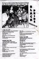Black pride weekend 1996 flyer