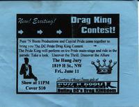 Drag King contest flyer