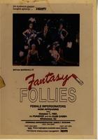 Fantasy Follies advertisement (in photo box outside club)