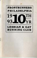 Frontrunners Philadelphia 10th Anniversary Pamphlet