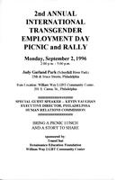2nd Annual International Transgender Employment Day Picnic and Rally flyer