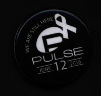 """We are still here"" Pulse Nightclub memorial pin"